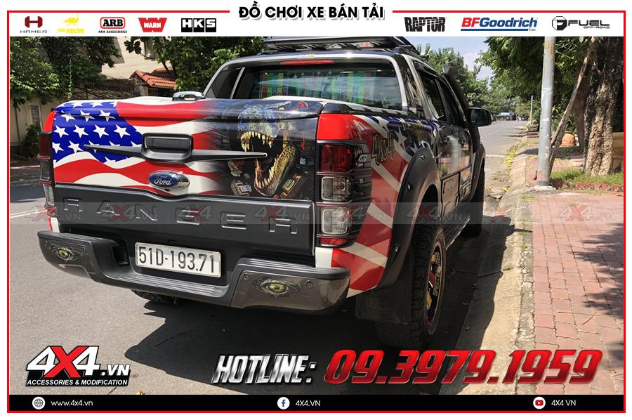 Lên ốp cốp sau cực đẹp cho xe Ford Ranger tại 4x4 Hồ Chí Minh