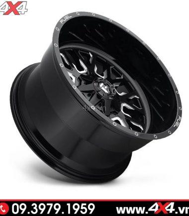 Mâm Fuel Stroke đen trắng độ cho xe bán tải Ranger Raptor