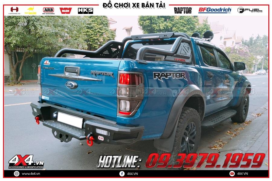 Có hay không nên sử dụng cản sau Hamer xe Ranger Raptor?