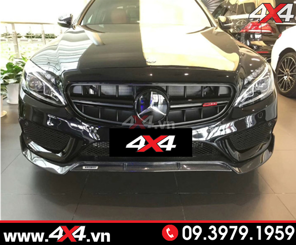 Mặt nạ mẫu E63S AMG cực ngầu độ cho xe Mercedes Benz W205 C200 C250 C300