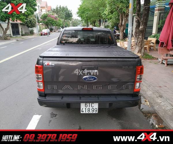 Thay nắp thùng 3 tấm cho xe Ford Ranger 2020 tiện dụng và giá hợp lý ở 4x4