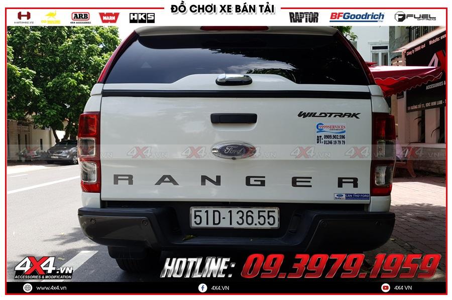 Tư vấn thay nắp thùng cao cho xe Ford Ranger cực đẹp tại TP.HCM