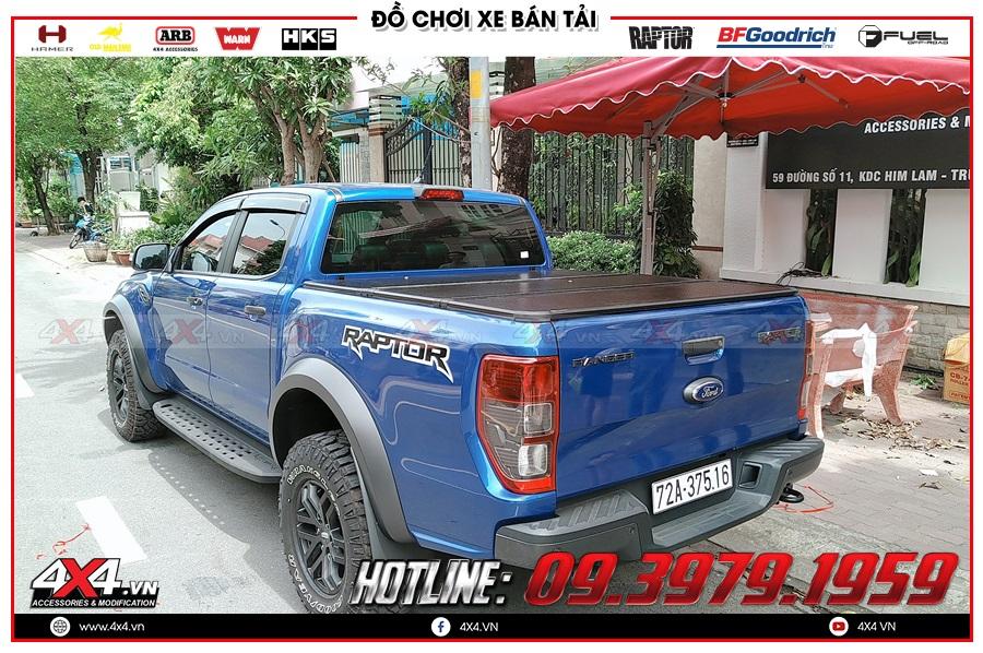 Báo giá nắp thùng 3 tấm dành cho xe Ranger Raptor 2020 nhập khẩu Thái Lan