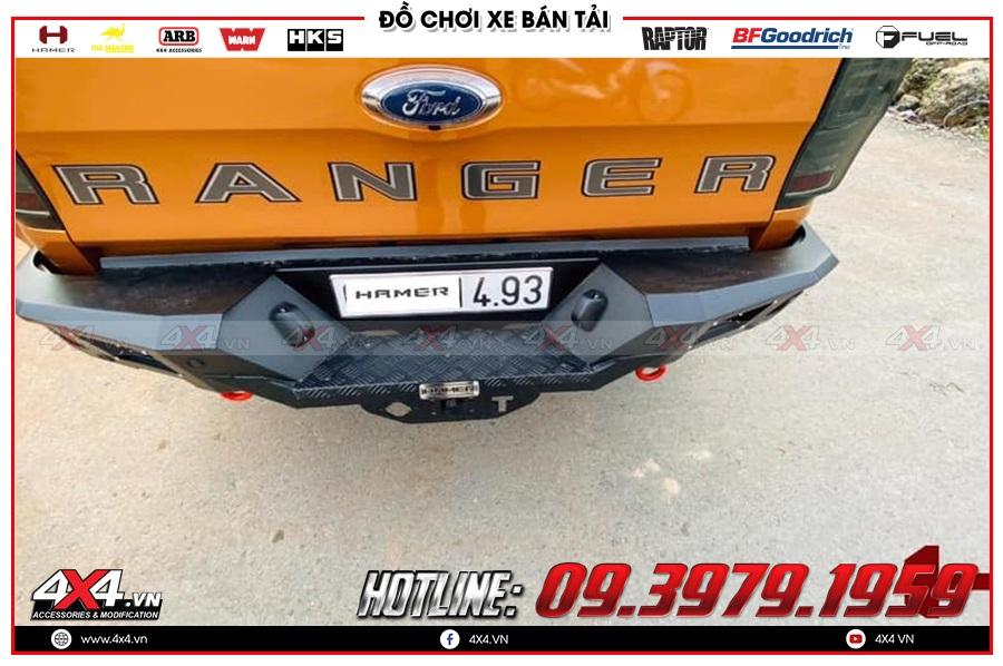 Báo giá cản sau dành cho xe Ford Ranger của hãng Hamer hàng nhập Thái Lan
