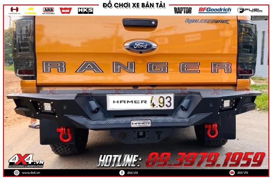 Lên cản sau Hamer cho xe Ford Ranger cực ngầu tại 4x4
