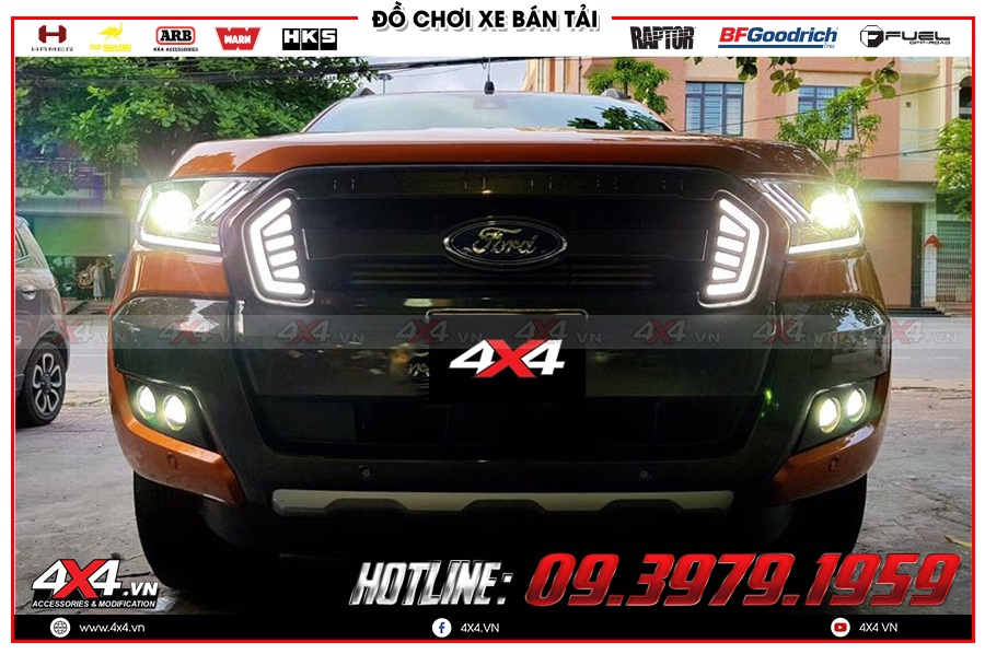 Đèn bi xenon cho xe bán tải với ánh sáng mạnh mẽ, thu hút người nhìn