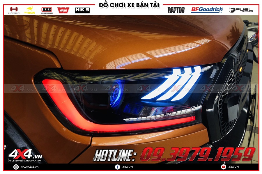 Điểm vượt trội của đèn pha kiểu dáng Ford Mustang là thiết kế sang trọng và cực tiện ích