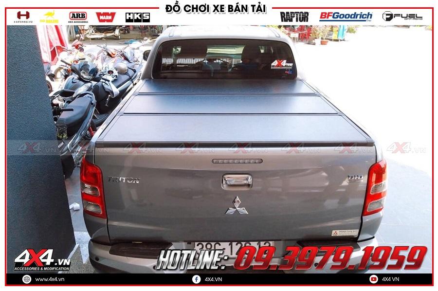Lưu ý khi gắn nắp thùng 3 tấm lên cho xe Mitsubishi Triton 2020 sao cho tiện dụng tại 4x4