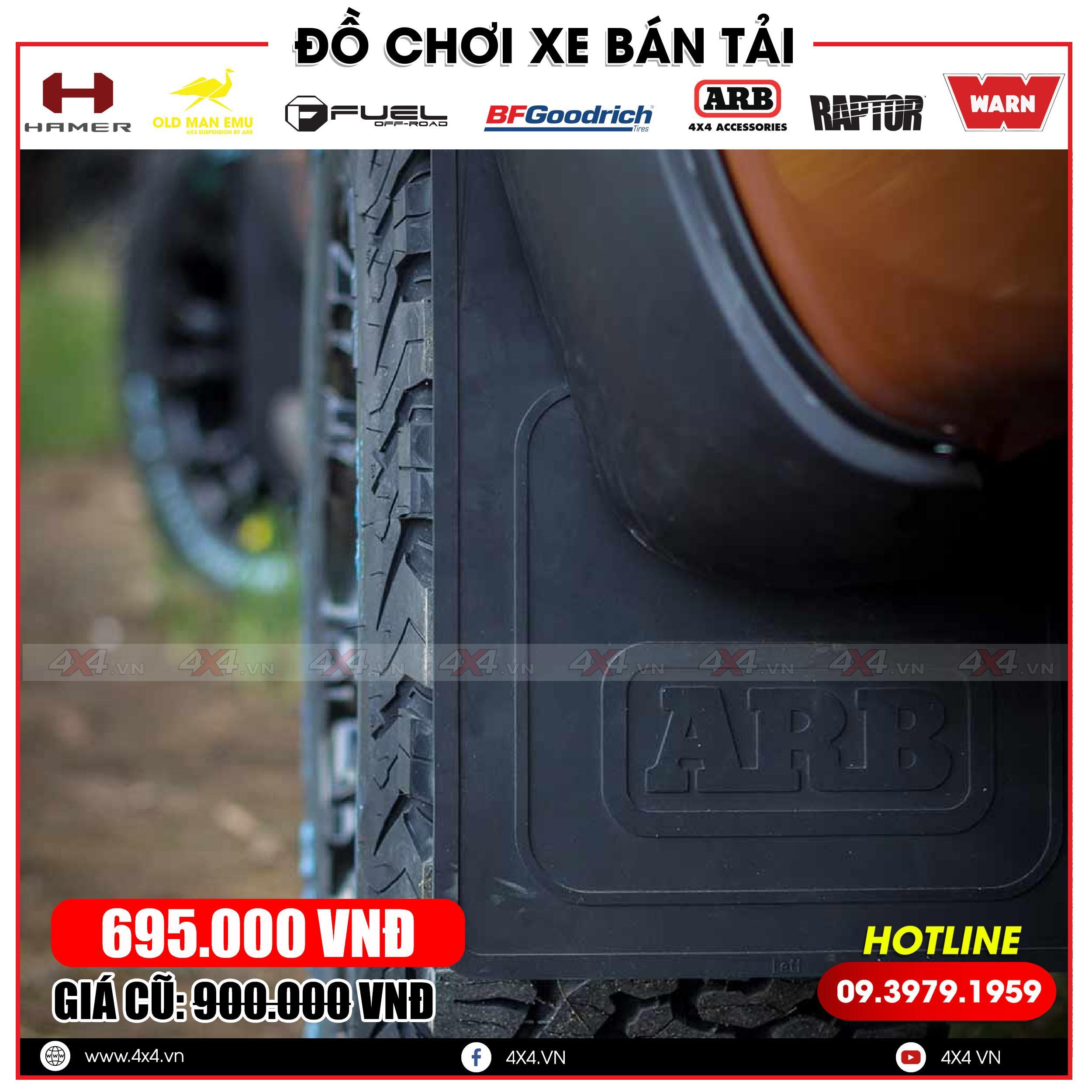 mẫu chắn bùn ARB đen được sản xuất từ Mã Lai độ đẹp cho xe bán tải