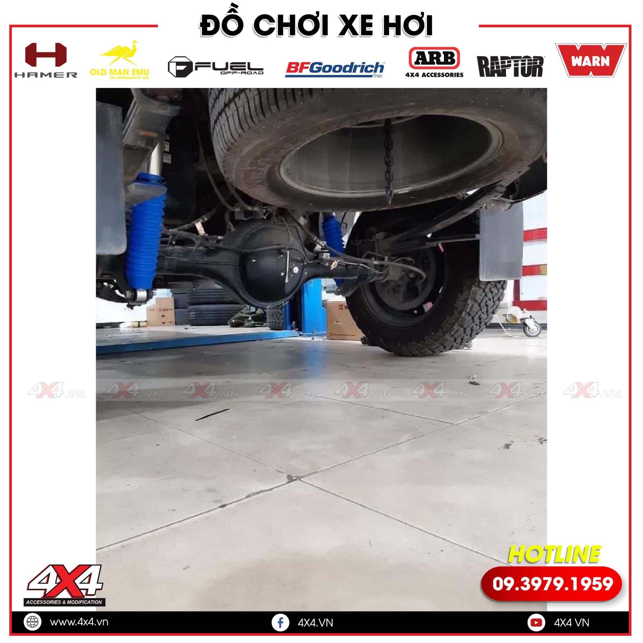 Lắp Phuộc Profender Dành Cho Mazda BT50 Dáng Thể Thao tại Xưởng độ 4x4