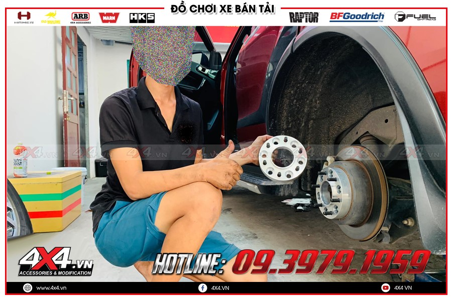 Chuyên bán các sản phẩm Độ Wheel Spacers ford ranger thế hệ mới cực đẹp