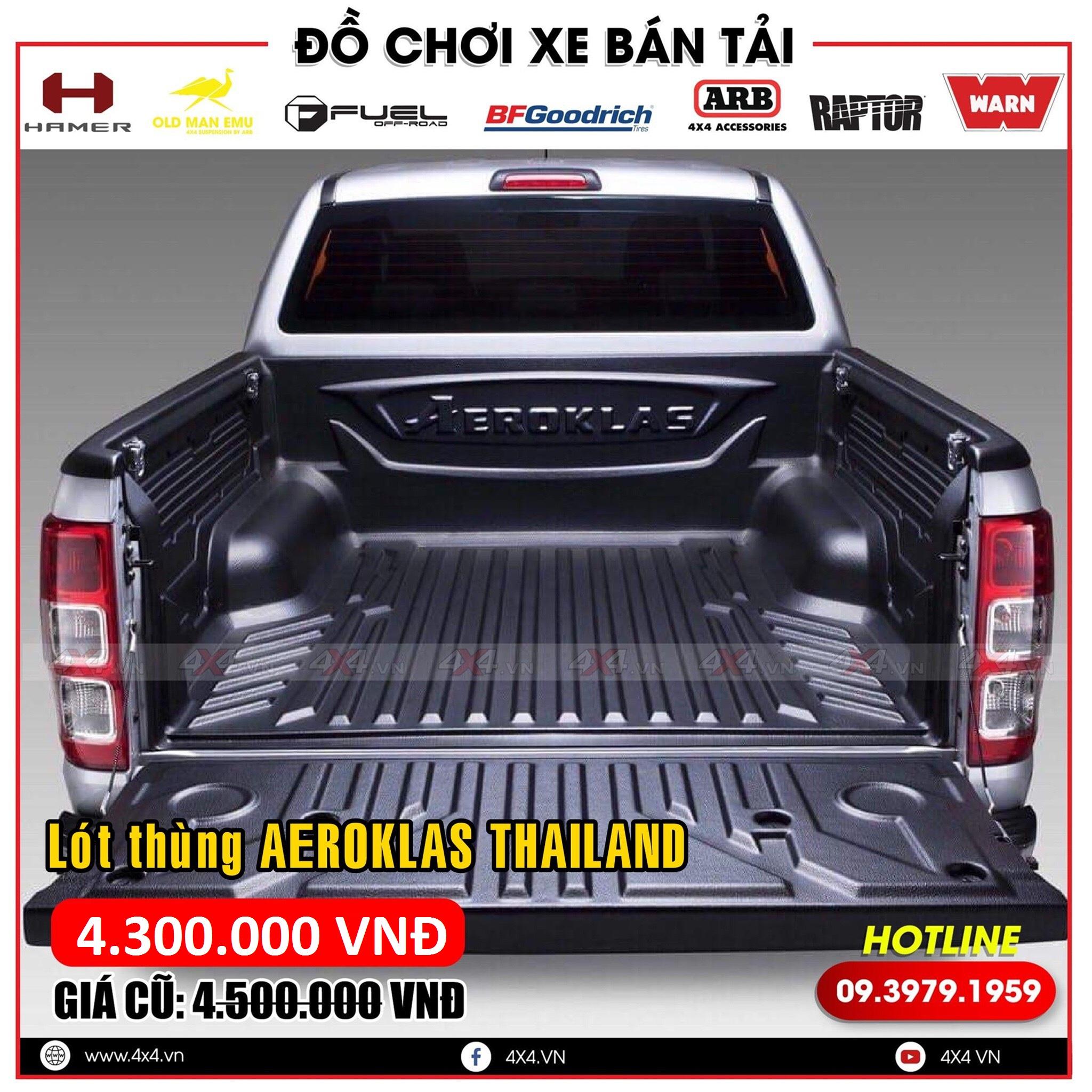 Lót thùng Aeroklas Thái Lan dành cho các dòng xe bán tải Ford Ranger, Colorado, BT50,...