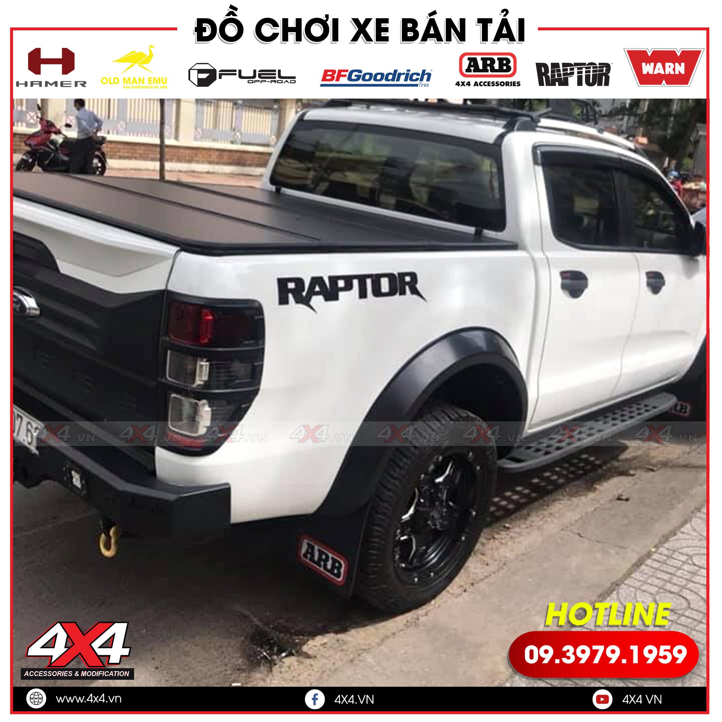 Xe bán tải Ford Ranger độ đẹp lên body kit Ranger Raptor