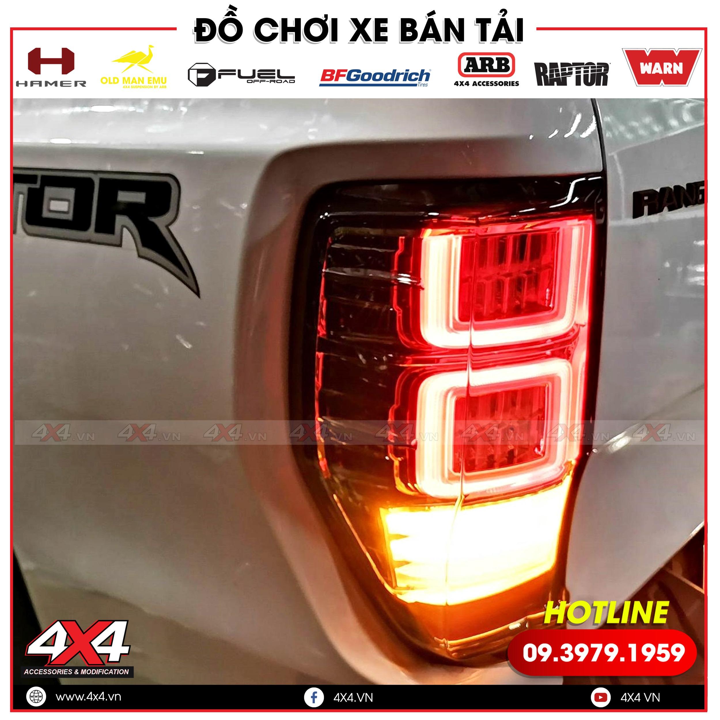 Đèn hậu độ kiểu Range Rover đẹp và nỏi bật dành cho xe bán tải Ford Ranger Raptor, Wildtrak, XLS, XLT