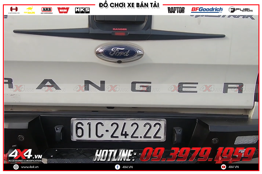 Chuyên độ cản sau Hamer dành cho xe Bán tải hàng nhập Thái Lan