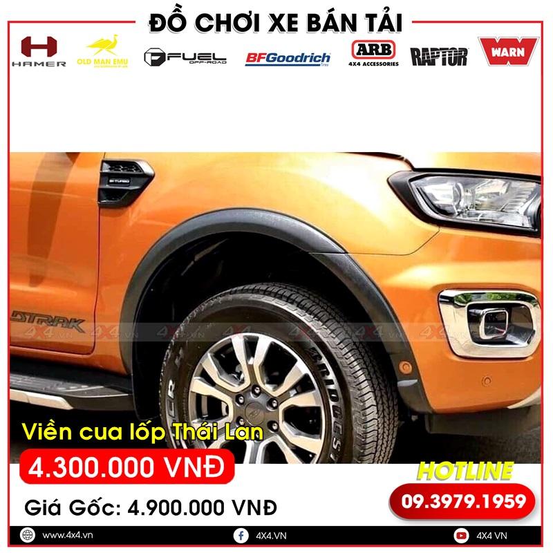 Viền cua lốp mỏng hàng nhập khẩu Thái Lan dành cho xe bán tải Ford Ranger