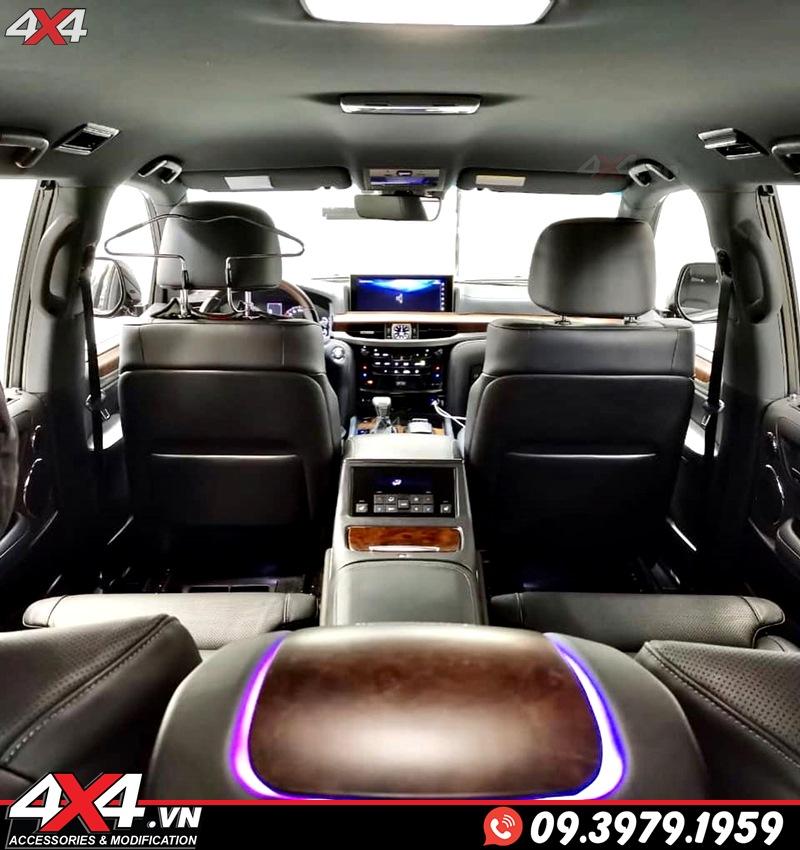 Xe sang Lexus 570 và Toyota Land Cruiser độ nội thất MBS màu đen, ngầu, đẳng cấp và sang trọng