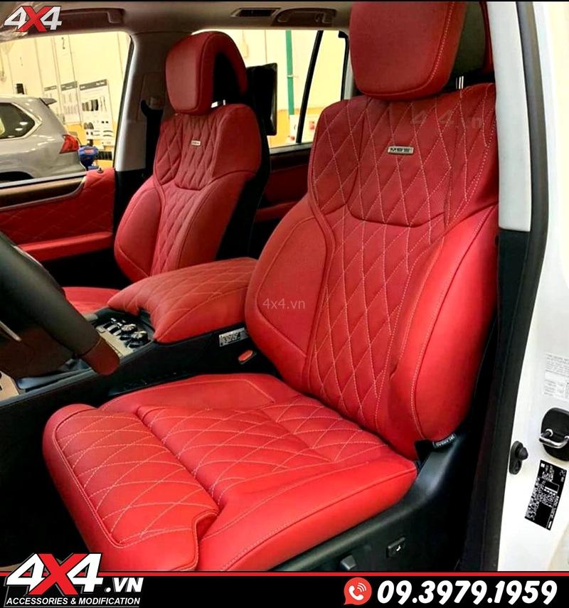 Ghế độ MBS tông đỏ dành cho xe sang Lexus 570 và Toyota Land Cruiser