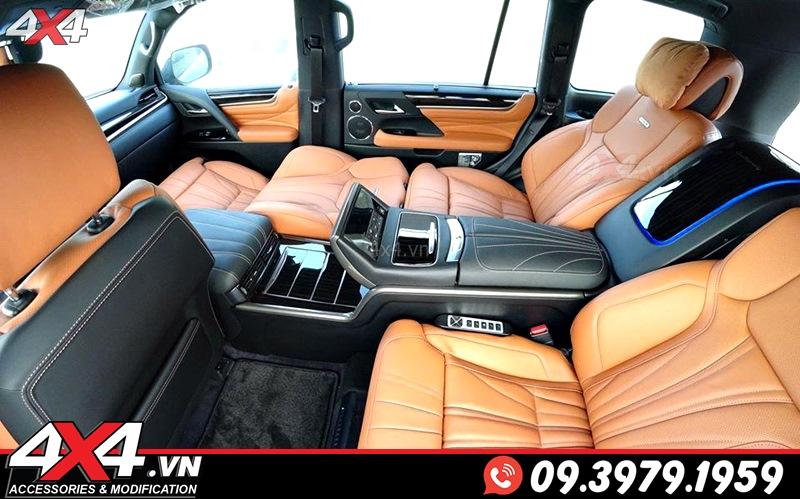 Gói độ nội thất MBS màu nâu dành cho xe sang Lexus 570 và Toyota Land Cruiser
