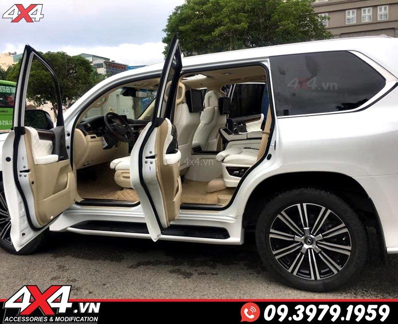 Xe sang Lexus 570 độ đẹp và sang trọng với bộ nội thất MBS màu trắng