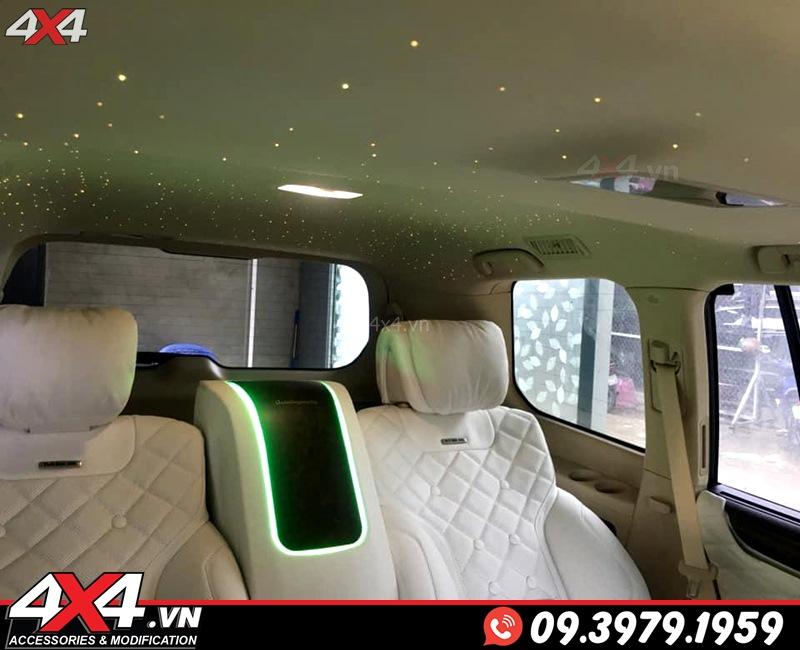 Độ nội thất MBS tông màu trắng đẹp, sang trọng và đẳng cấp dành cho xe sang Lexus 570 và Toyota Land Cruiser