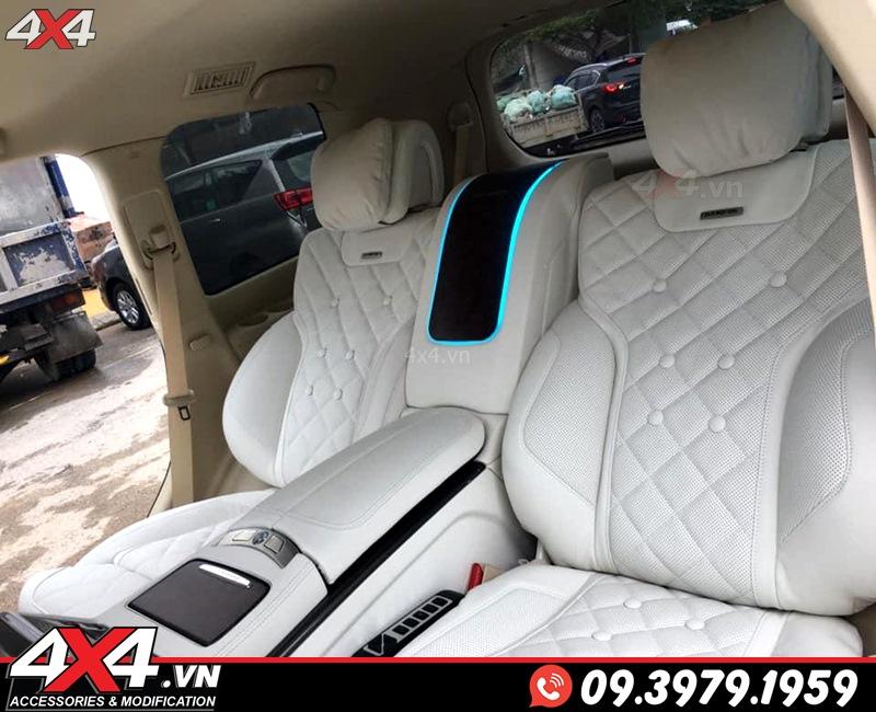 Nội thất độ đẹp và sang trọng với tông màu trắng độ từ hàng MBS dành cho xe sang Lexus 570 và Toyota Land Cruiser