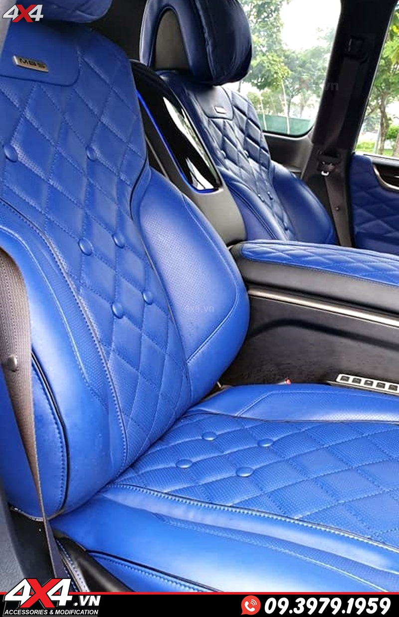 Độ nội thất MBS tông màu xanh cho xe sang Lexus 570 và Toyota Land Cruiser