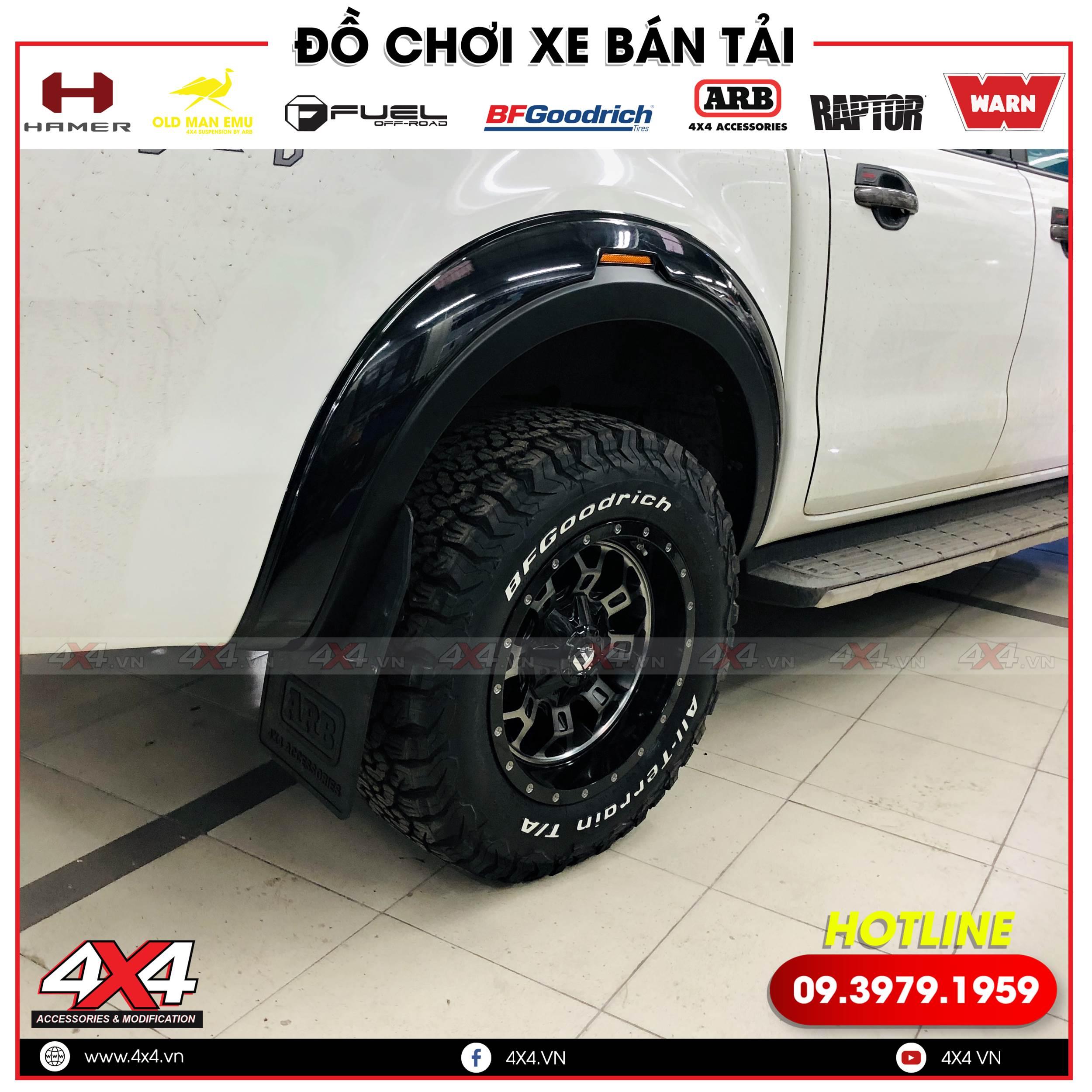 Ốp cua lốp RBS Thái Lan độ đẹp, sang trọng cho xe bán tải Ford Ranger