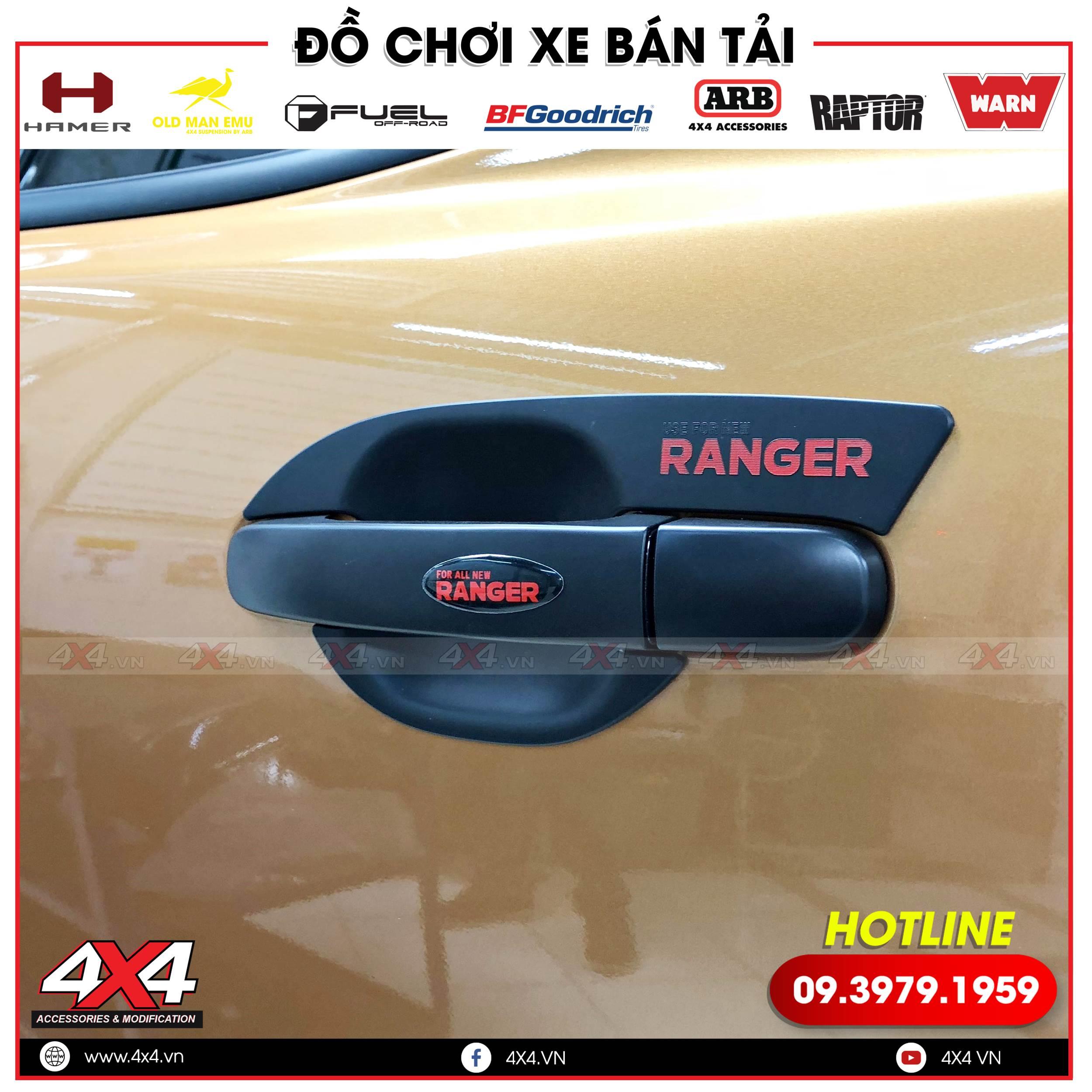 Ốp tay nắm chén cửa độ đẹp và cứng cáp hơn cho Ford Ranger