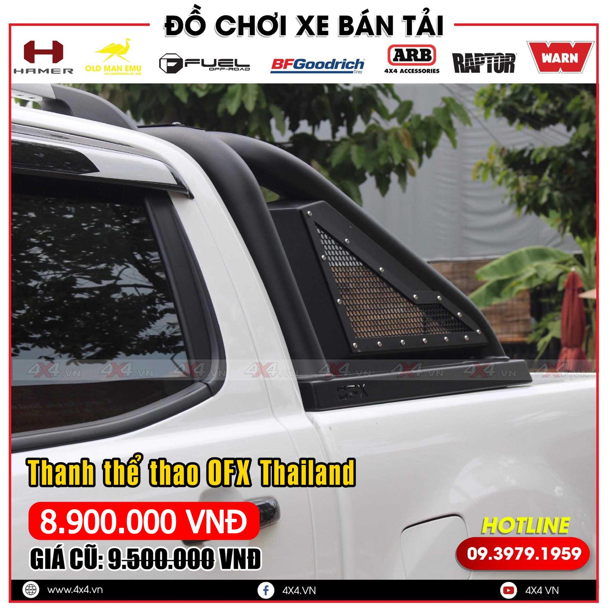 Xe bán tải Ford Ranger độ đẹp và đẳng cấp với mẫu thanh thể thao OFX Thái Lan
