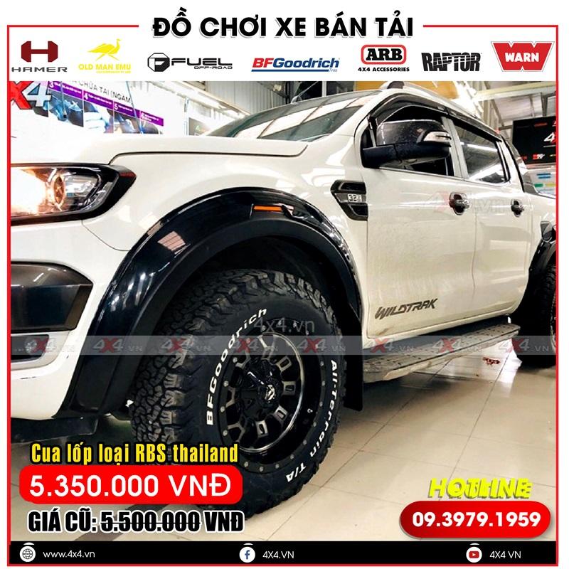 Ốp cua lốp ford ranger: loại cua lốp RBS được nhập trực tiếp tự Thái Lan hàng chất lượng cao