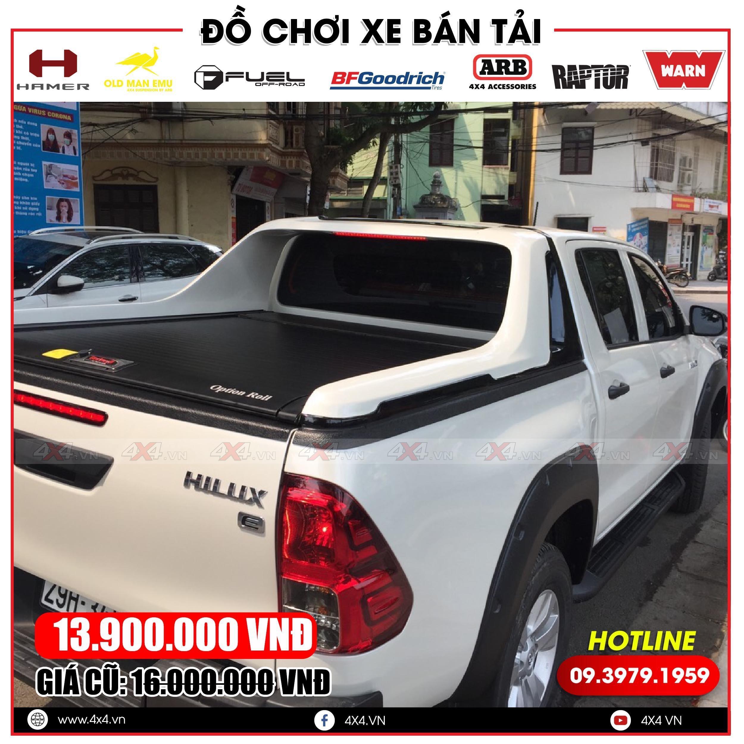 Nắp thùng cuộn Option Roll độ tiện lợi và ngầu cho xe bán tải Toyota Hilux