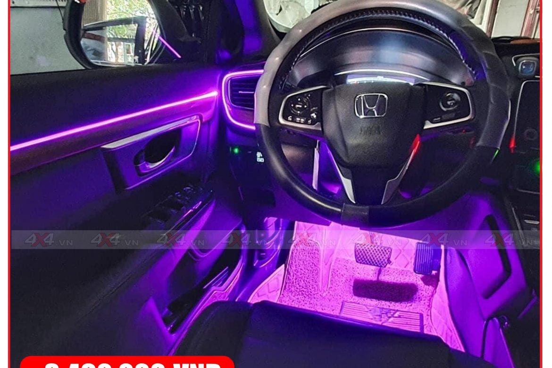 Viền led nội thất độ đẹp cho xe ô tô Huyndai