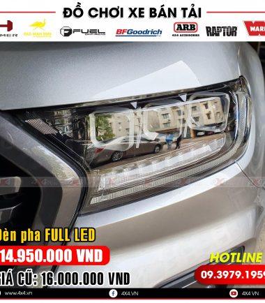 Độ đèn với 3 bi led cực ngầu và đẳng cấp cho xe bán tải Ford Ranger