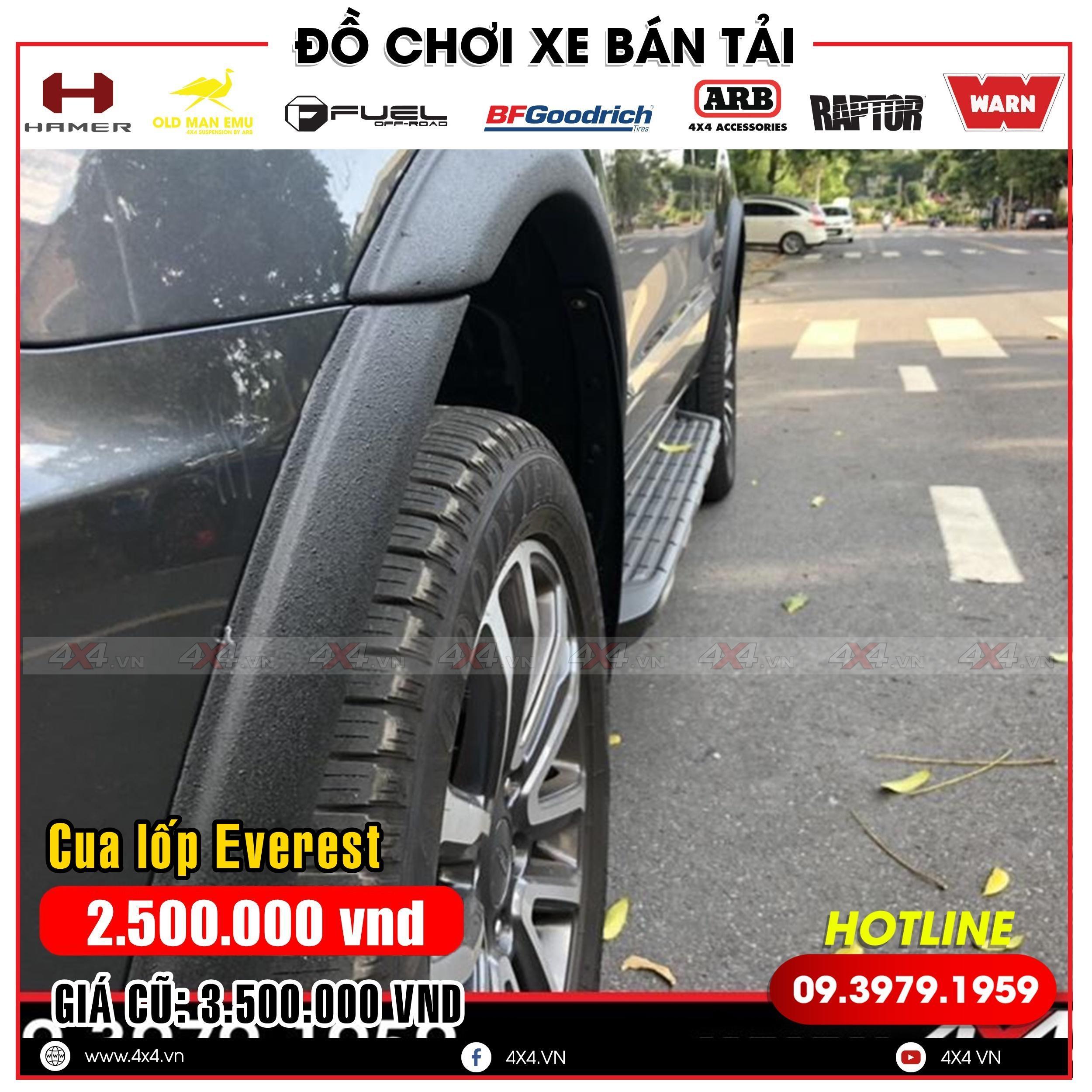 Viền cua lốp mỏng độ đẹp và cứng cáp cho xe Ford Everest