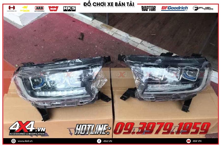 Độ đèn pha mẫu Bugatti Chiron dành cho Ford Ranger giá bao nhiêu?