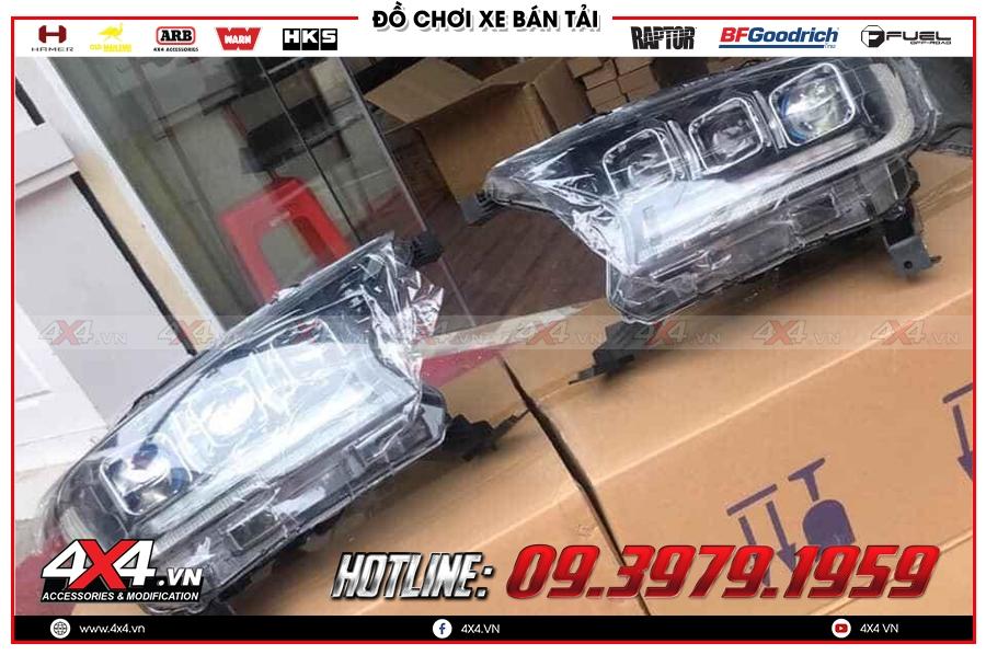 Độ đèn pha mẫu Bugatti Chiron dành cho xe bán tải Ford Ranger Raptor giá như thế nào?