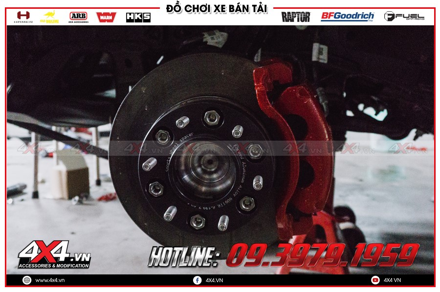 Chuyên bán các trang thiết bị Độ Wheel Spacer mazda bt50 2015 cực bền