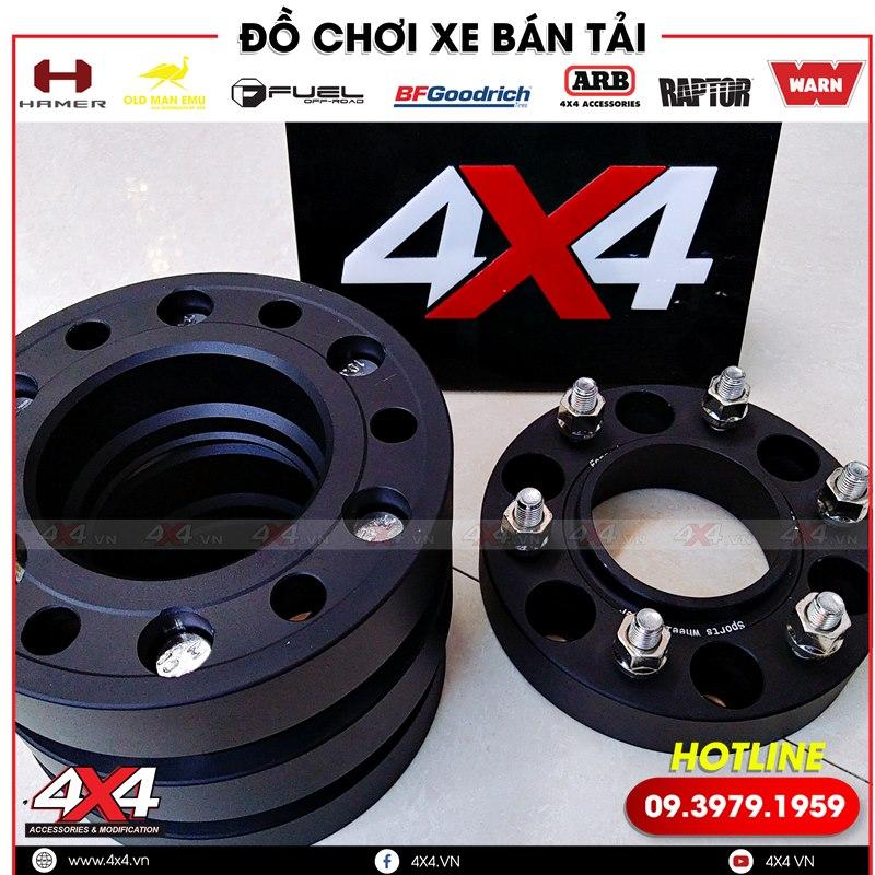 Bộ wheel Spacer độ giúp trang trí cho xe bán tải Isuzu D-max thêm ngầu và hầm hố hơn nhiều