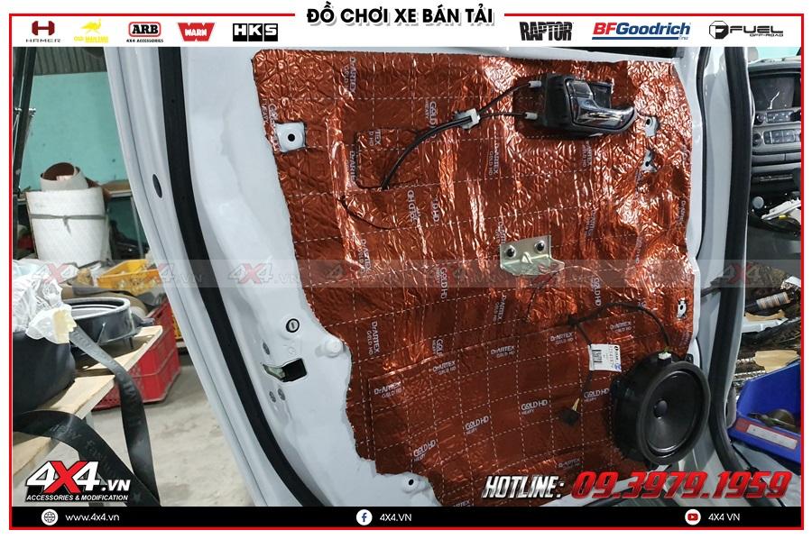 Độ cách âm chống ồn cho xe Chevrolet Colorado 2020 ở Công ty TNHH 4x4 HCM