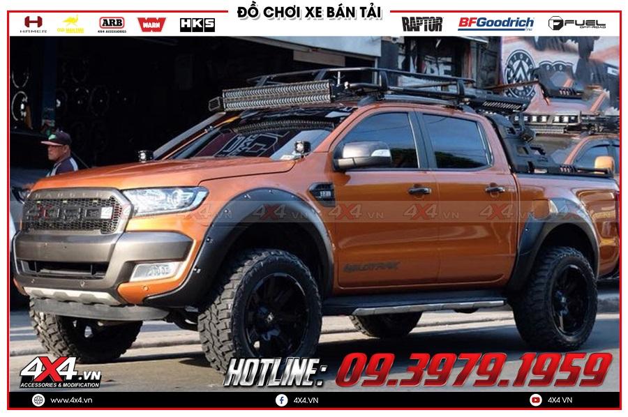 Lắp baga mui cho xe bán tải Colorado Hilux Triton Navara Dmax Ford Ranger BT50 ở Sài Gòn