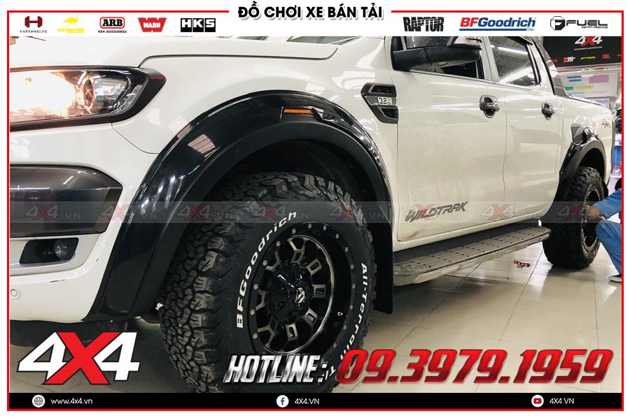 Bảng giá ốp cua lốp dành cho xe bán tải nhập khẩu Thailand