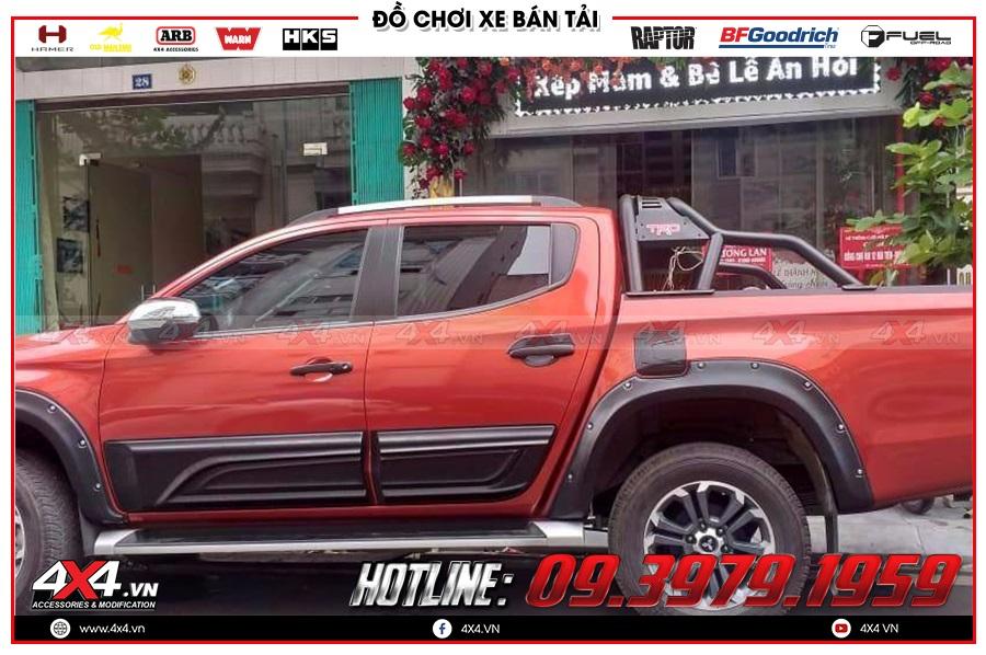 Tìm hiểu một vài dòng ốp hông cửa xe Mitsubishi Triton đang được yêu thích