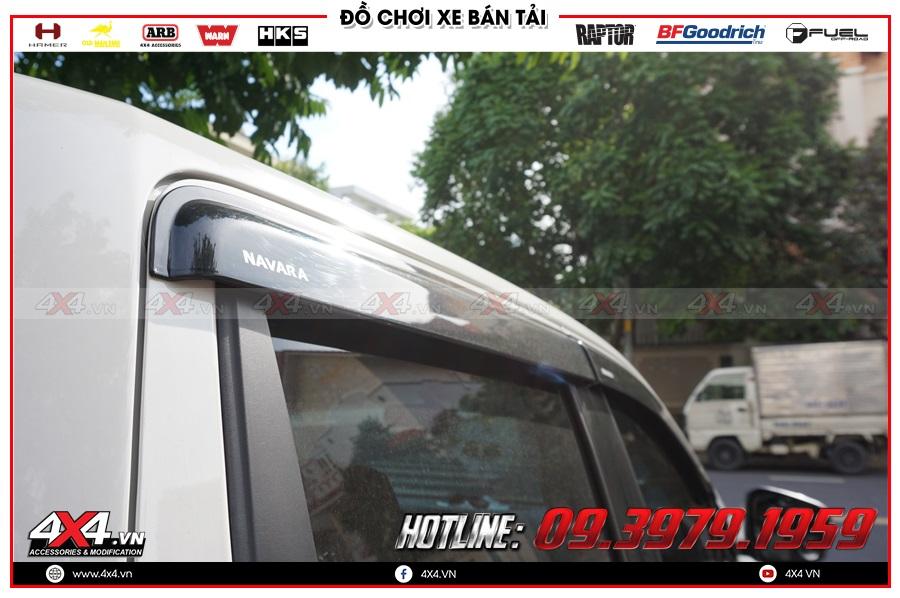 Tác dụng của vè che mưa cho xe Nissan Navara