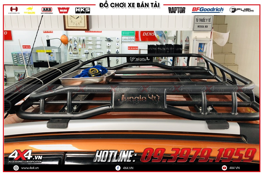 Lắp baga mui cho xe Ranger Raptor ở tp HCM
