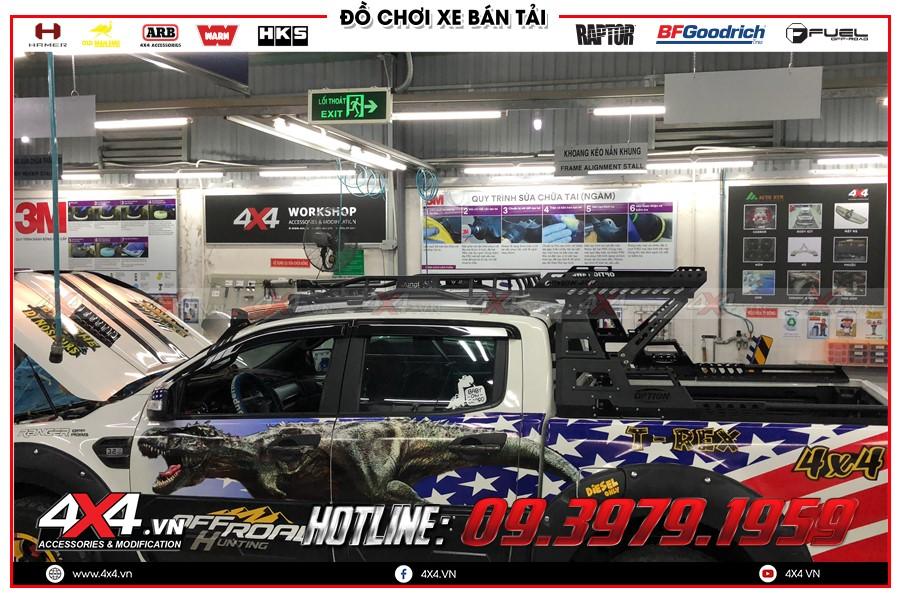 Chuyên độ thanh giá nóc xe ranger raptor nhập khẩu chính hãng Thái Lan