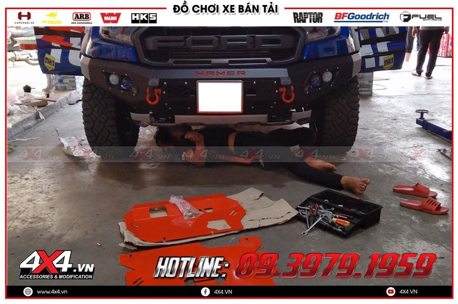 Giáp gầm xe Ford Ranger giá ưu đãi khủng tại Sài Gòn Workshop 4x4