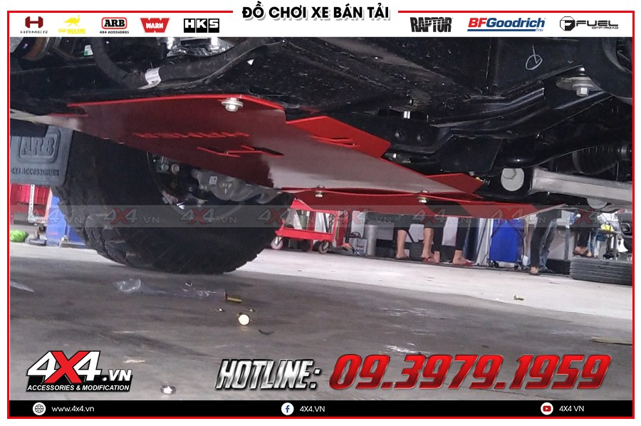 Giáp gầm xe Mazda BT50 giá hấp dẫn tại HCM Garage 4x4