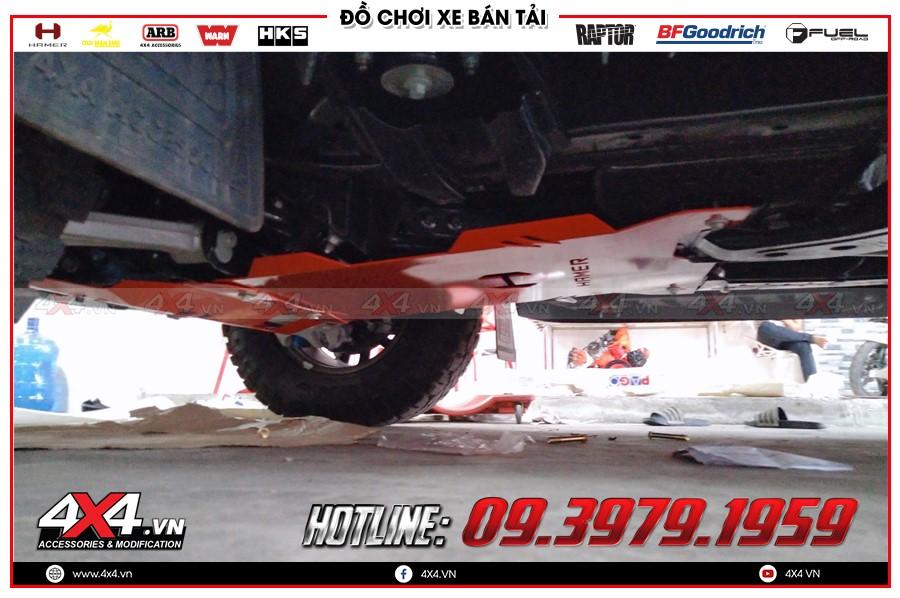 Giáp gầm xe Nissan Navara cực tốt tại Garage 4x4 TPHCM