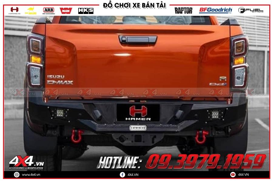 Độ cản sau Hamer cho xe Isuzu Dmax cực ngầu tại 4x4